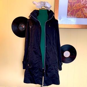 Calvin Klein long zip trench windbreaker jacket